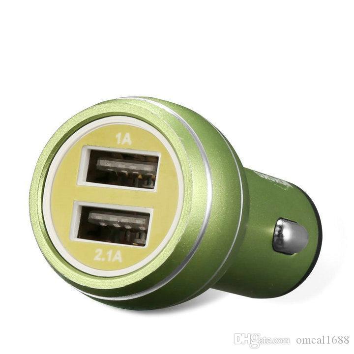 عالمي ثنائي USB شاحن سيارة 5V 2A شاحن البسيطة شحن سريع للهاتف المحمول الهاتف الذكي هواوي سامسونج