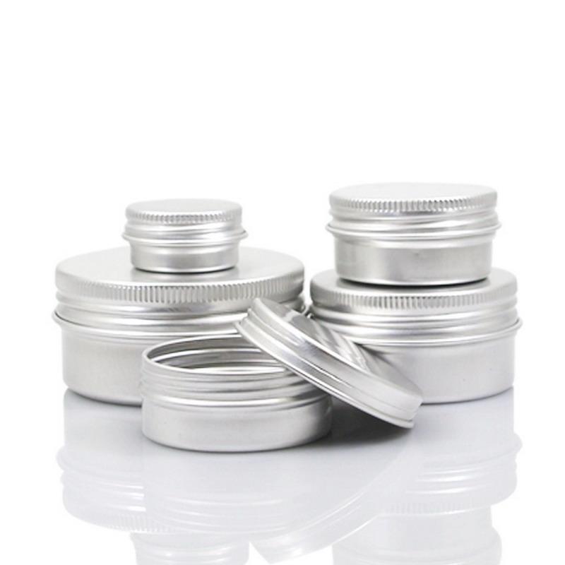5 10 15 30 60 100 мл Пустой алюминиевый Косметические контейнеры Пот бальзам для губ Jar оловом Крем Мазь Крем для рук Контейнер Box