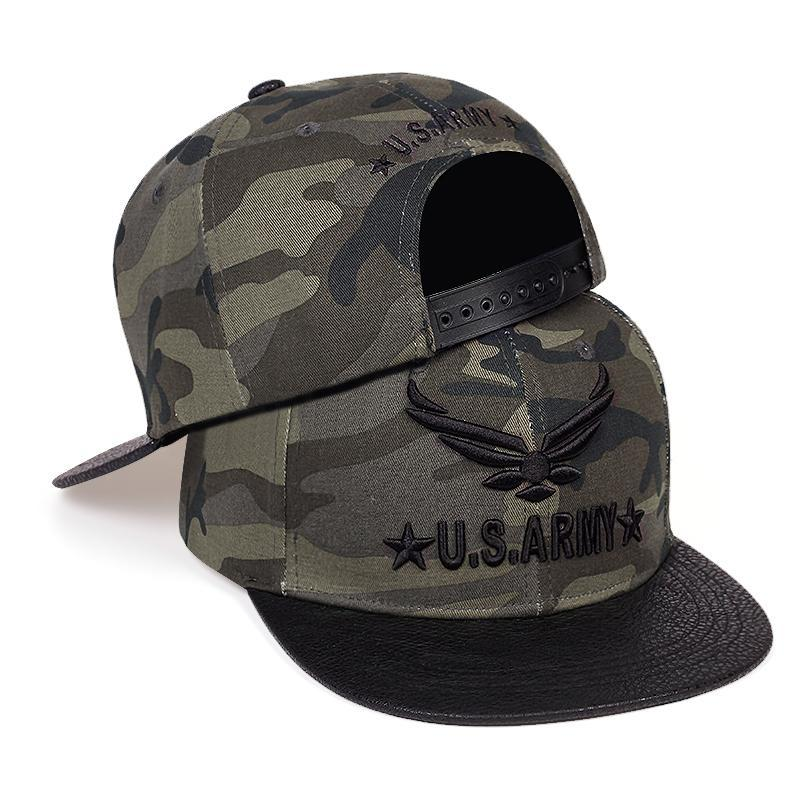 New U.S. Army Embroidered Baseball Cap Hip Hop Snapback Caps Cotton Adjustable Men'S Camouflage Tactical Hats Tide Military Hats MRovC