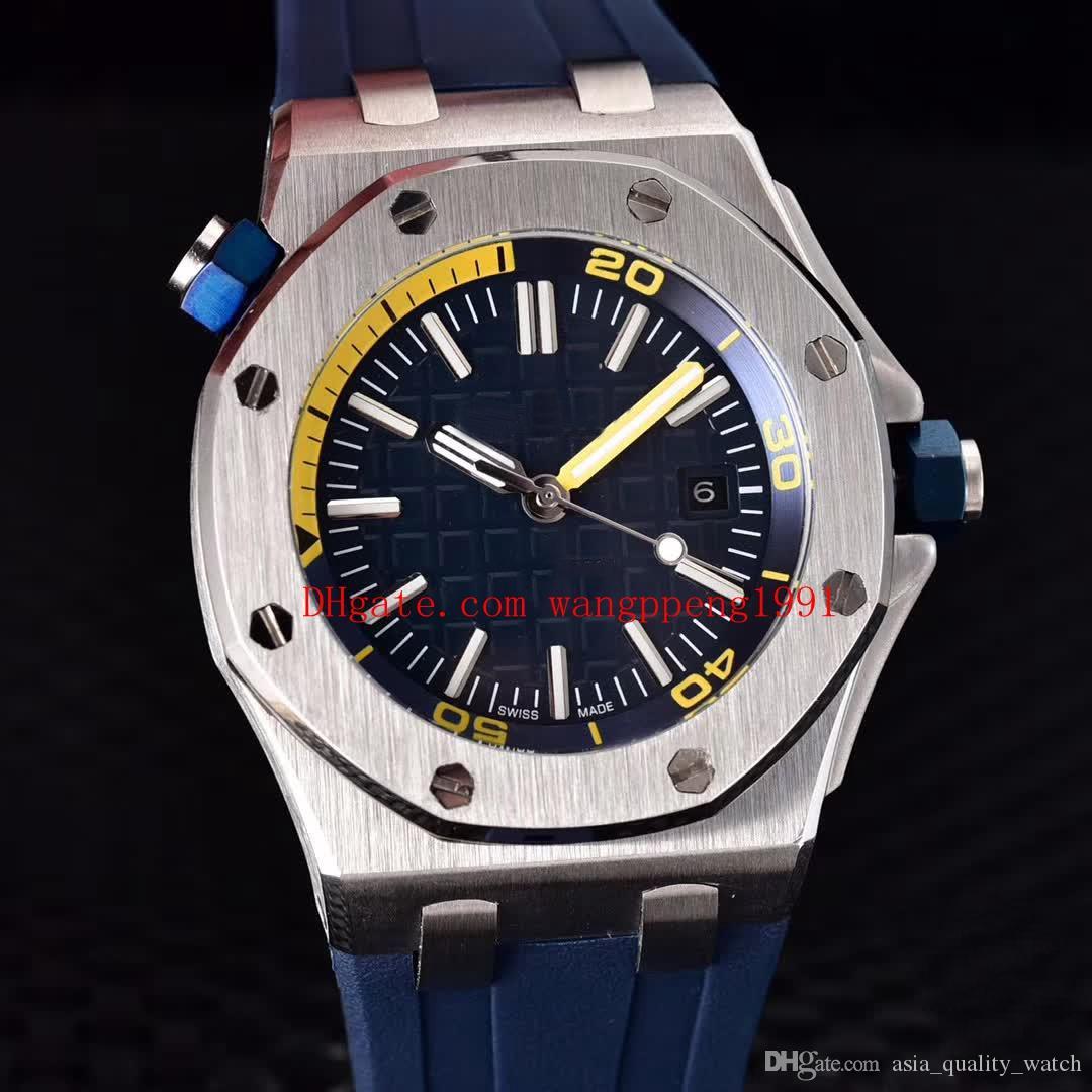 6 색 고품질의 시계 42mm 해양 다이버 15703 15710 15710ST.OO.A038CA.01 아시아 기계 자동 시계 남성 시계