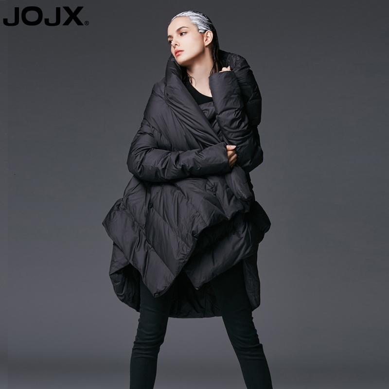JOJX женская зимняя куртка пальто 2018 Новый темперамент нерегулярные свободные куртка женщин вниз зимние пальто теплая куртка Женская верхняя одежда Y190828