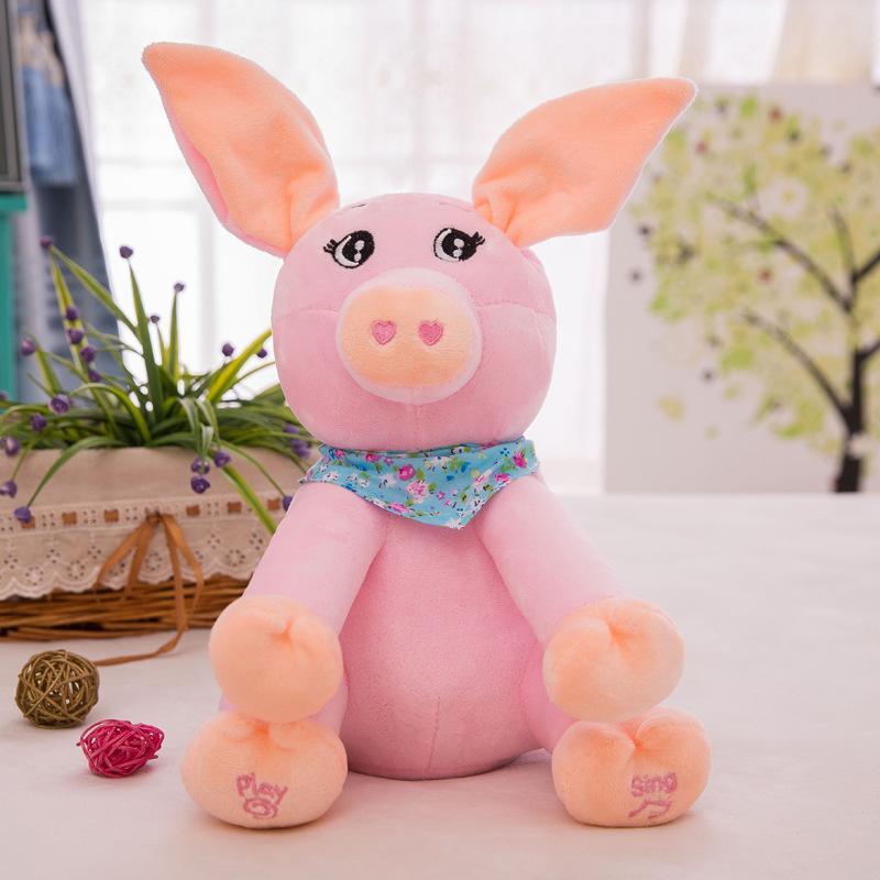 전자 봉제 인형 코끼리 곰 개 전기 인형 토끼 돼지 뮤지컬 완구 (21 개) 모델을 노래 말하기