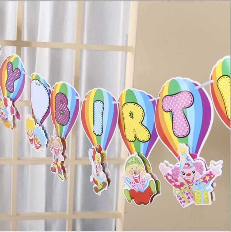 Hot sale paper letter pull flag weeding children birthday party decorations MOQ 30 pieces party supplies