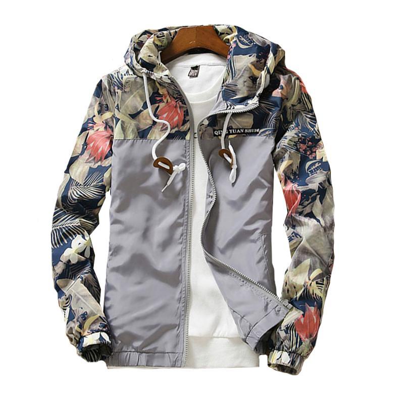 Kadın Kapşonlu Ceketler 2020 Yaz Nedensel rüzgarlık Kadınlar Temel Ceketler Coats Triko Fermuar Hafif Ceketler Bombacı Dişi