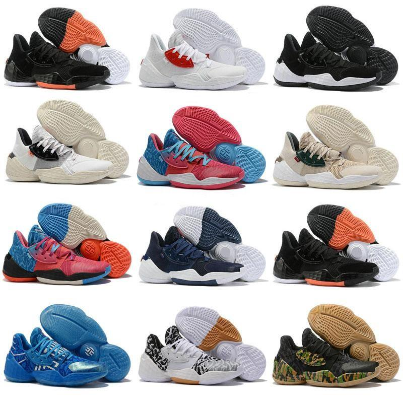 새로운 도착 남성 제임스하든 4 권. 4 개 4S IV MVP BHM 블랙 남자 농구 신발 야외 스포츠 교육 운동화 크기 미국 7-12