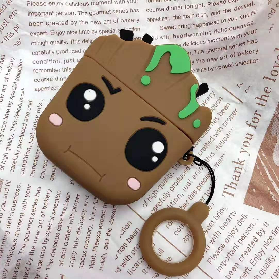 2020 For Airpods Pro Case 3d Cartoon Groot Protective Silicone