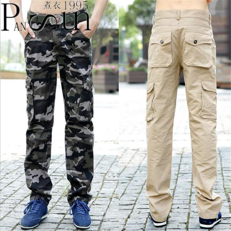 Camouflage Clothing Autumn And Winter New Uniform Overalls Man Casual Pants Loose Multi-Pocket Camouflage Army Green Trousers