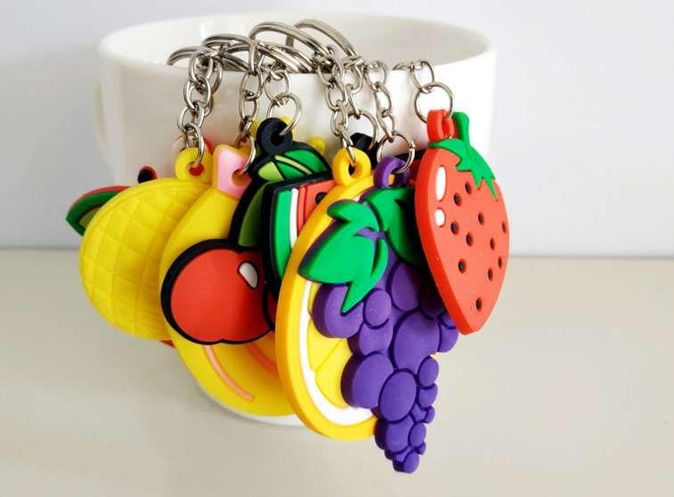 الفاكهة المفاتيح رجل إمرأة حقيبة سحر سلاسل مفتاح portachiavi مجوهرات الساخن لحقيبة هايت نوعية الأزياء الجديدة
