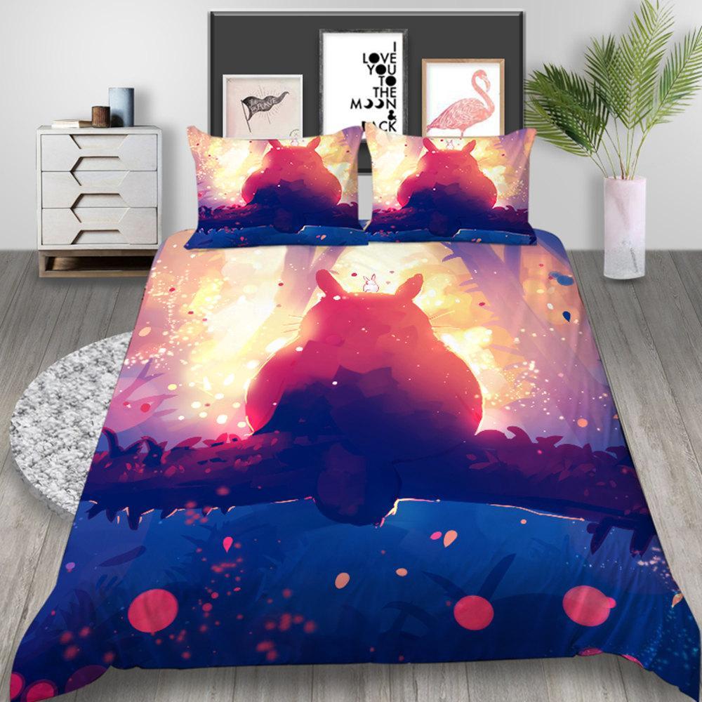 Copripiumino Totoro.Acquista Set Biancheria Da Letto Stampato Totoro King Fantasy