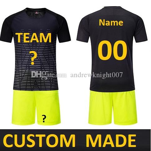 Customize Men futebol Soccer Jerseys Set Youth Kids Football Training Suit maillot de foot Custom Your Name Number DK2020ZQ