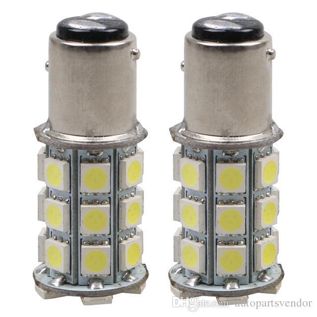 10pcs 1157 BAY15d P21 / 5W 5050 27-SMD Kuyruk Fren Durdurma LED Ampuller 7528 2057 12V Kuyruk Sinyal lambası bulb12V
