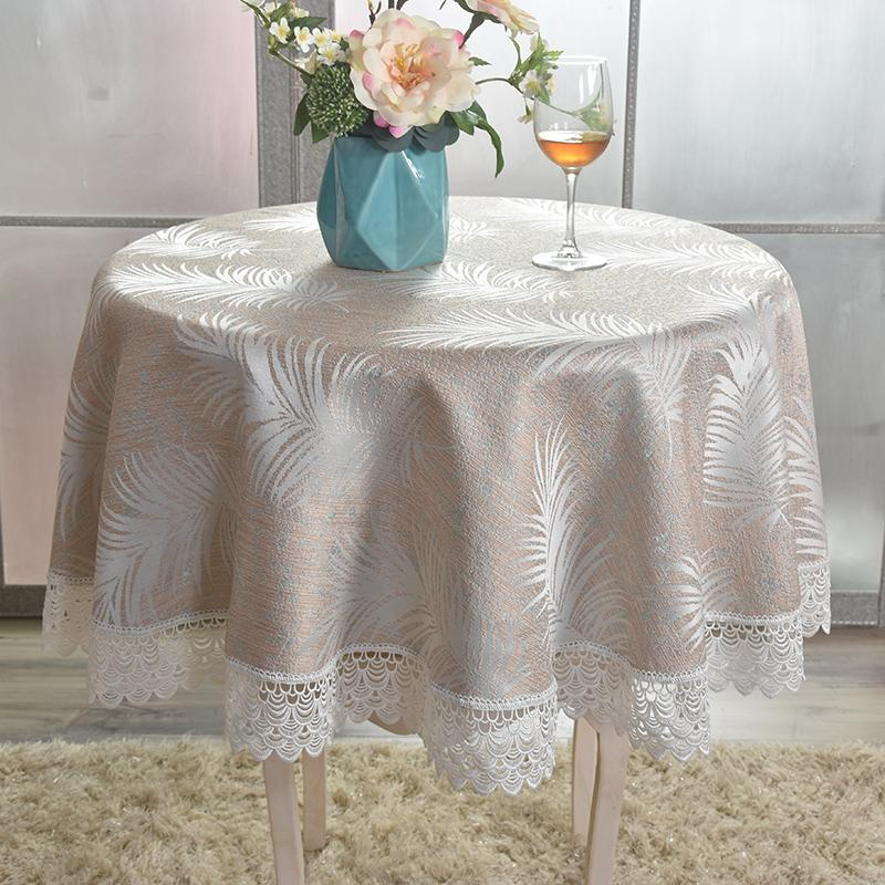 Simple Modern Small round Table Tablecloth Lace Romantic round Coffee Table Cloth Lace Balcony Cover Towel Household