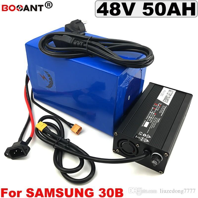 Para BBS Bafang 3000 w Motor 48 v 50AH E Moto-bateria De Lítio para o Original Samsung 18650 Elétrica carregador de Bateria bicicleta 48 v +
