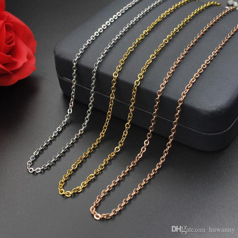 Stainless Steel Gold Chains Necklaces for Men and Women Hot Sale Fashion Titanium Steel Chain Necklace 1-3mm Jewelry wholesale 0919WH