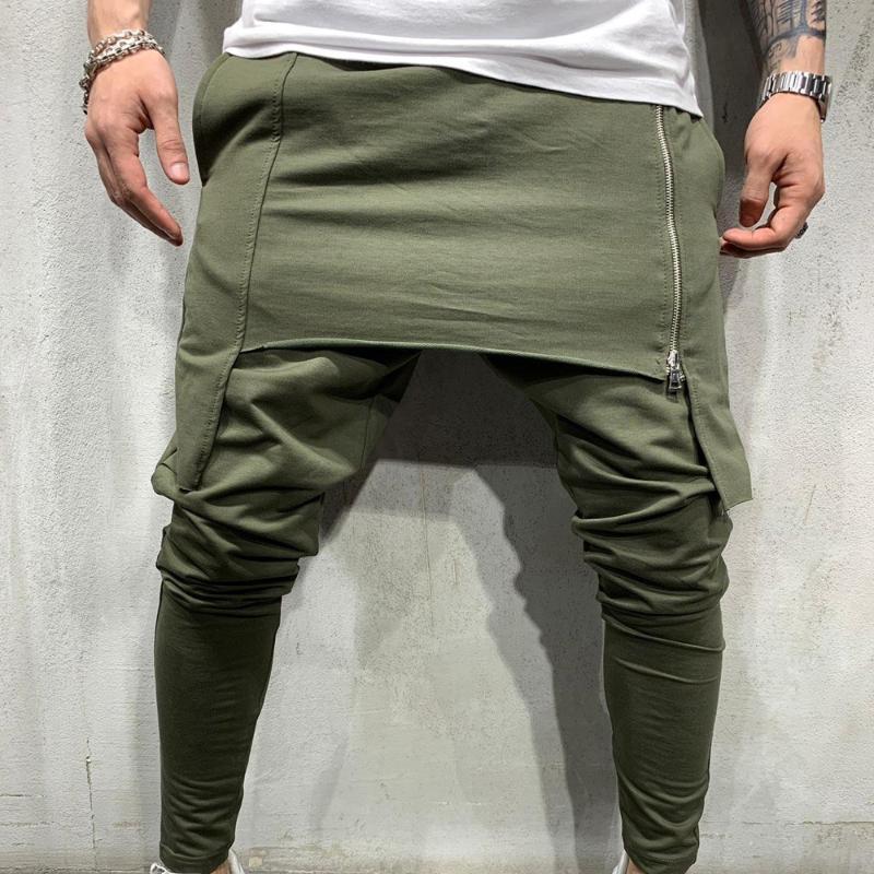 Moda Erkekler'S Gotik Stil Atletik Kıyafet Hiphop Pantolon Erkek Katı Renk Slim Fit Koşucular için Hombre Spor Casual Pantolon