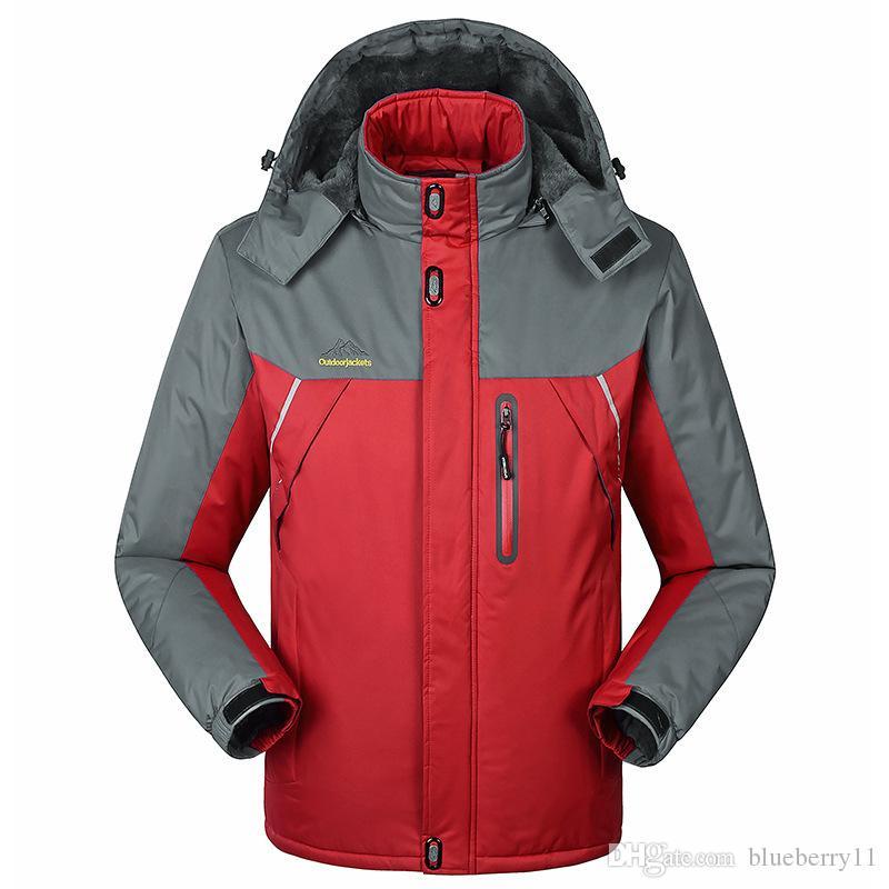 Winter Jacket Men Puffy Parka Mens Puffer Coat Warm Overcoat Male Slim Solid Large Size Sports Jacket