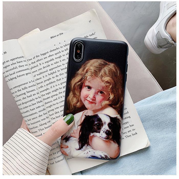 Vendita calda custodie retrò per Iphone 6 7 8 Plus X XR XS MAS Moda casse del telefono ragazze e ragazzi Stampa Case New Carino coppia TPU Fondello