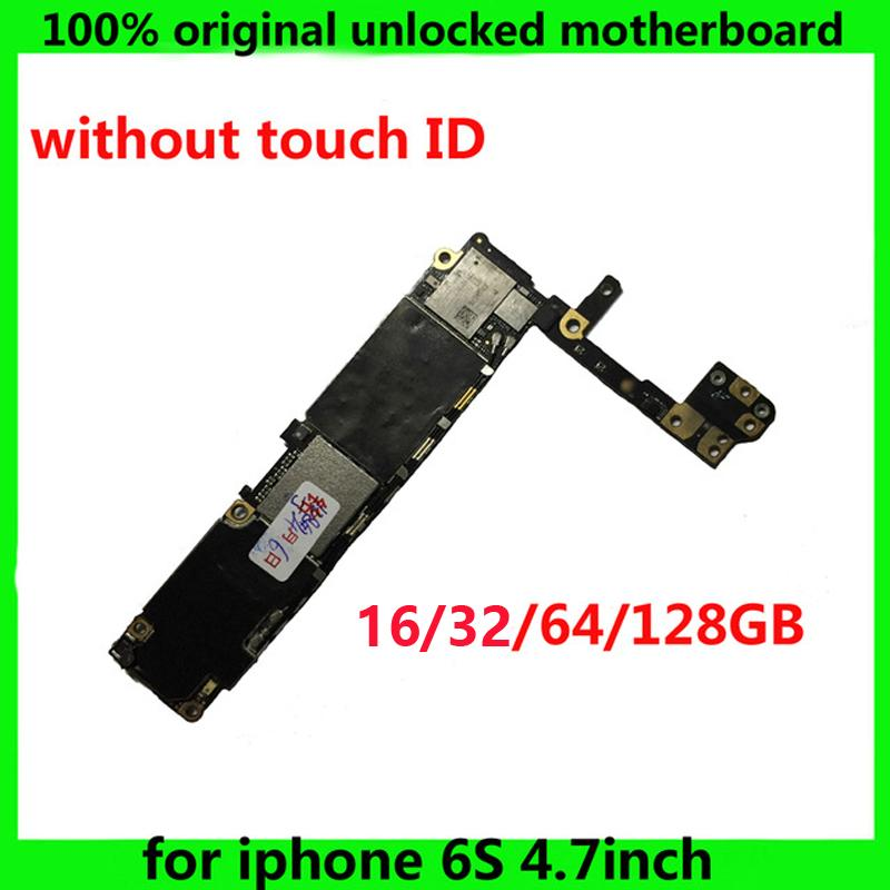 16GB 64GB 128GB IOS System logic Board clean iCloud mainboard for iphone 6 S 6S Original unlocked motherboard without touch ID