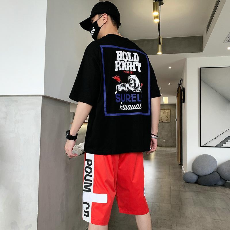 2020 Nouvelle Arrivée Survêtements Mode Hommes Hommes d'été respirant en deux parties Survêtement Casual Male costumes de loisirs actifs 4 couleurs Taille M-3XL