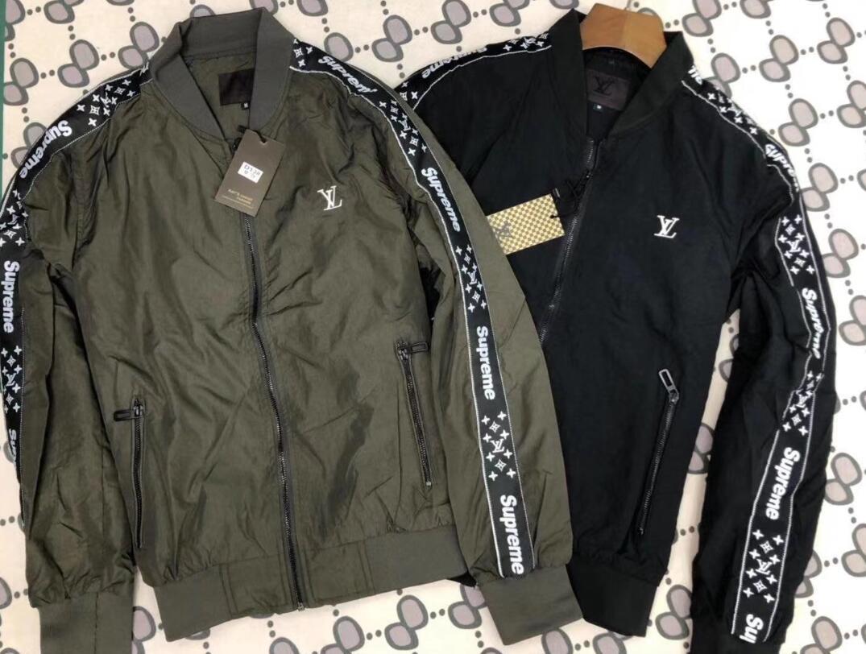 calidad Louιs Vuιtton Superior estrella nueva tendencia de la personalidad para hombre de las chaquetas hendidura lateral del bolsillo de la chaqueta con capucha tigre de la manera Imprimir Youngth