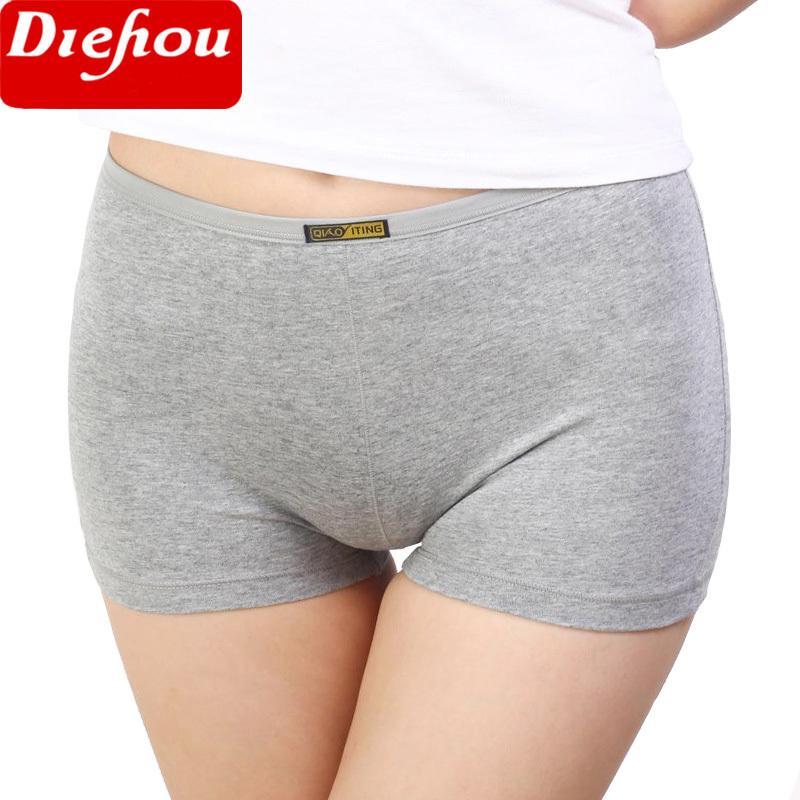 3 Pièces / Paquet d'été Femmes Pantalons Femme de sécurité à court coton Sous-vêtements Boxer Shorts Caleçons Big Taille transparente culottes pour les femmes Y200425
