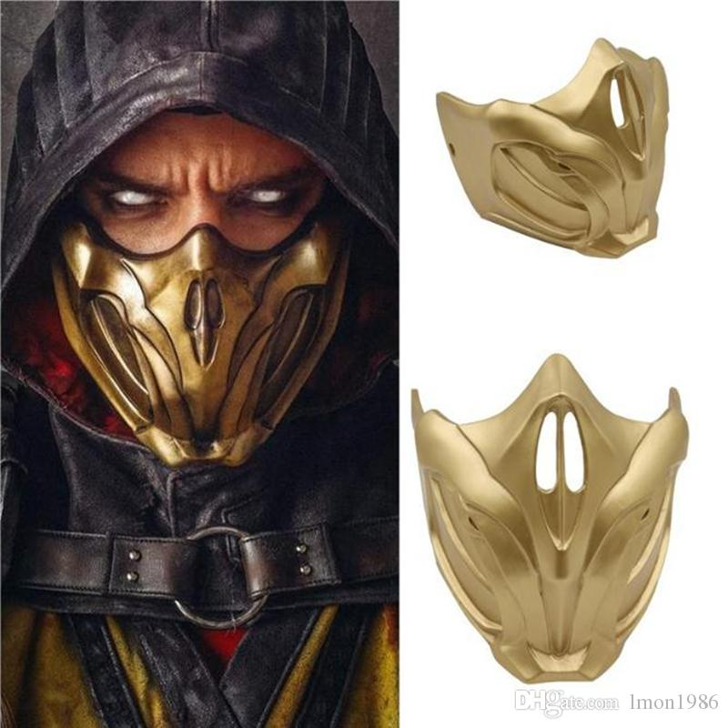 New Top Quality Game Mortal Kombat 11 Cosplay Masks Scorpion Resin