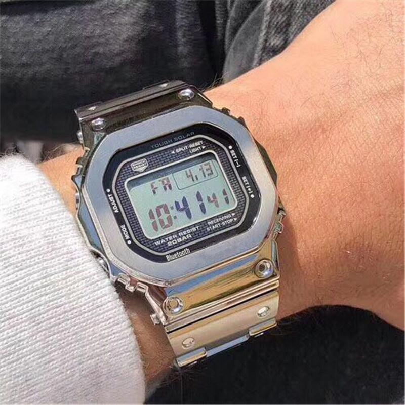 충격 톱 브랜드 아웃 도어 남성 G 스포츠 시계 LED 전자 디지털 시계 남자 패션 크로노 그래프 손목 시계 Relogio Masculino 미니