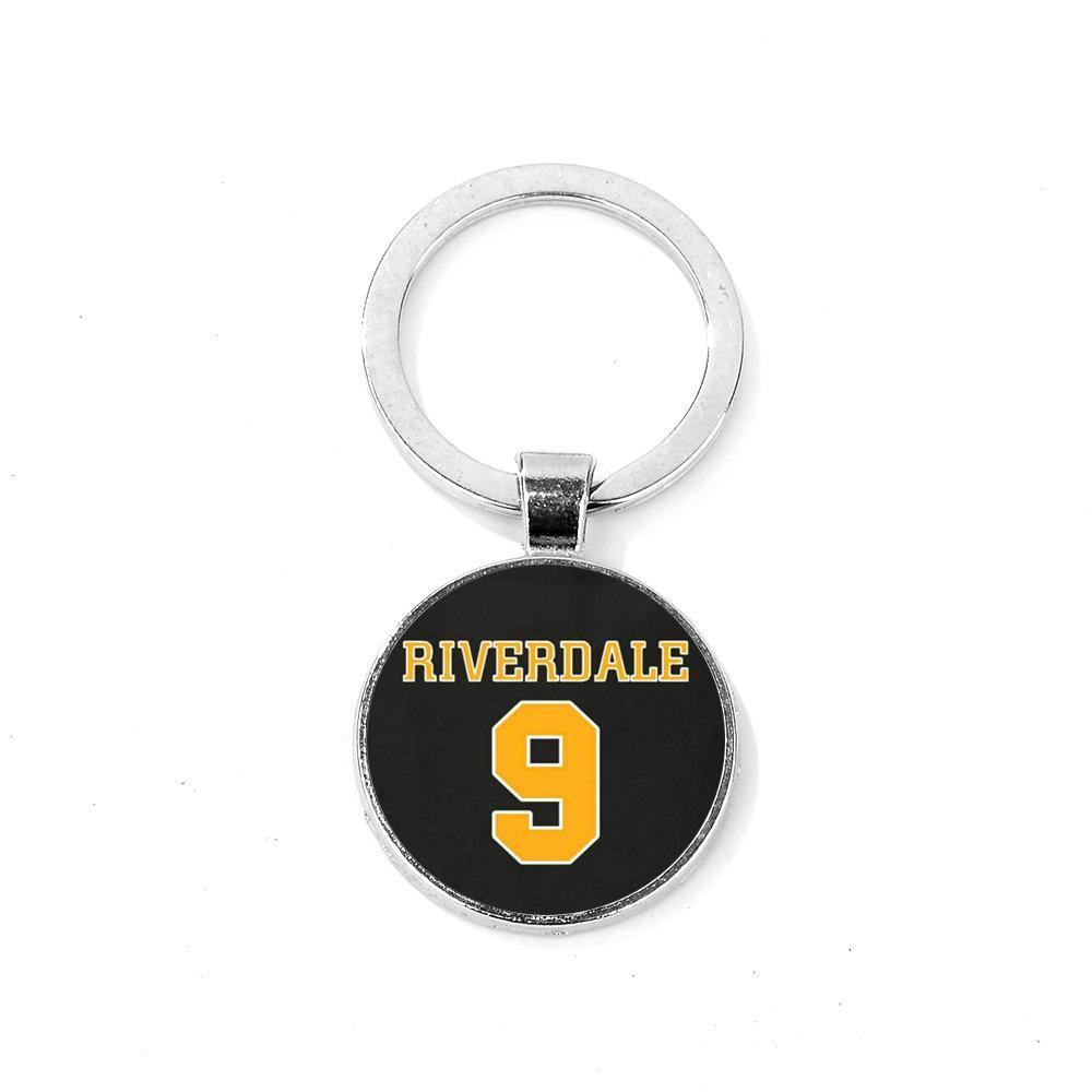 SIAN Marca Riverdale South Side Serpents Keychain creativo Pattern Chain di vetro Gem chiave Portachiavi Car Artigianato Moda Llaveros