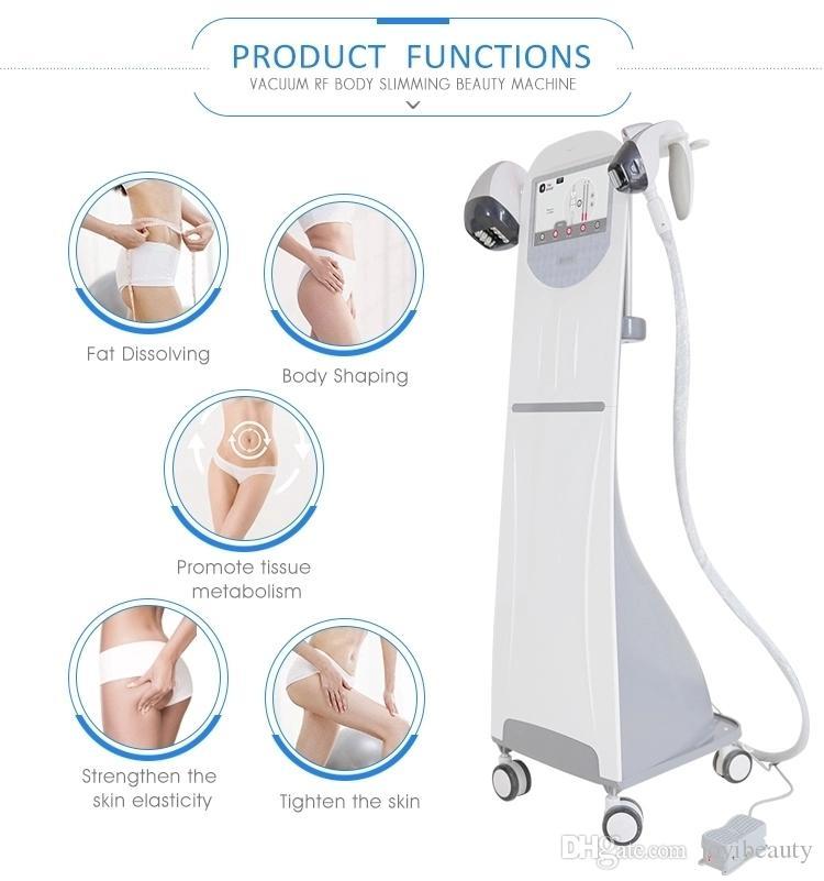 rf vácuo perda rolo máquina de emagrecimento gordura peso velashape Vela corpo forma moldar beleza máquina de aperto de pele de RF