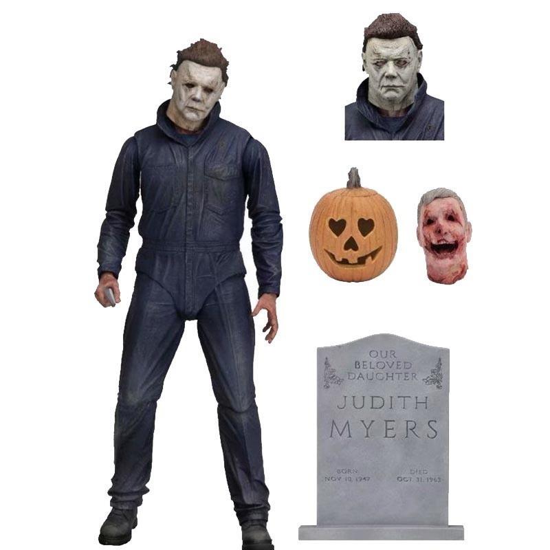 Neca Halloween Ultimate Michael Myers Figuras de Ação Bjd Modelo Brinquedos 18 cm Y19062901