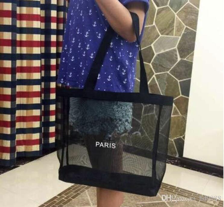 CALIENTE! Clásico comercial logotipo blanco de malla patrón de lujo bolsa de viaje bolsa de las mujeres lavan maquillaje cosmético del bolso del caso del acoplamiento de almacenamiento