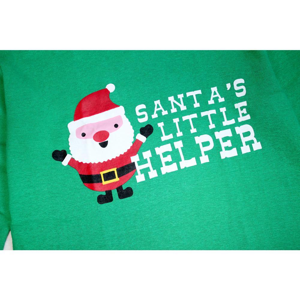 O ajudante pequeno Vestuário 100 algodão manga comprida Crianças Natal Pijama de Santa Define Meninas Xmas pijama pijamas crianças Pijams