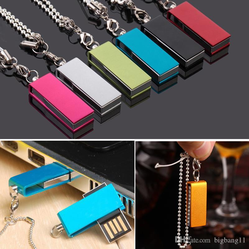 Boa qualidade sobre 30pcs livre personalizado LOGO pendrive colorido de metal USB 2.0 Flash Drive 4GB presentes de casamento 8GB 16GB 32GB USB flash memory stick