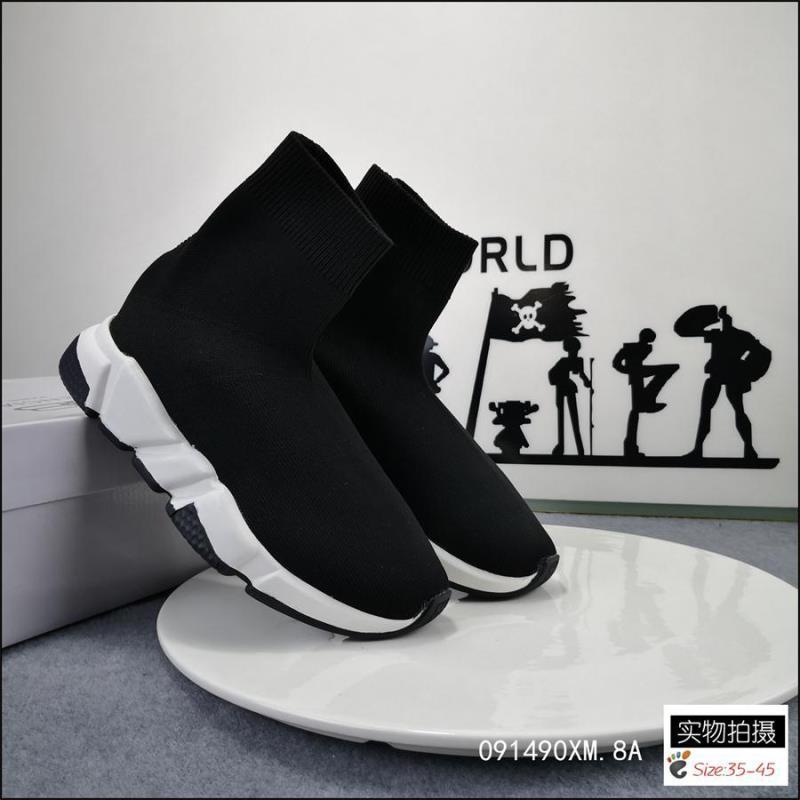 SUPER SALE2020 haute qualité de vitesse Speed formateur chaussures Casual hommes chaussures des femmes en tricot extensible vitesse taille Mid Eur 36-45