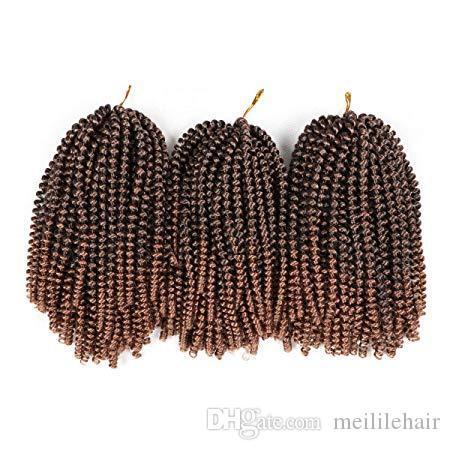 8 дюймов Спринг Twist выдвижения волос вязания плетенки Синтетический Twist волос Jumbo Twist плетение волос