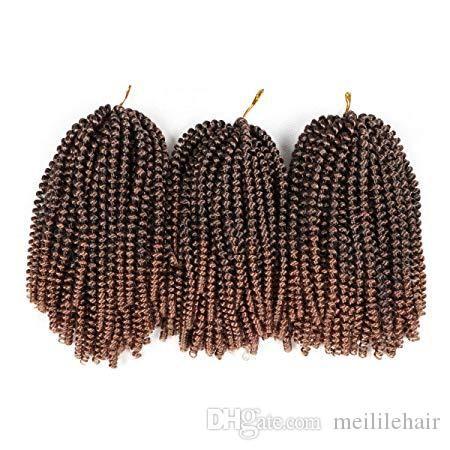 8 pollici Primavera Twist estensione dei capelli del Crochet Trecce sintetico di capelli di torsione Jumbo Twist intrecciare i capelli