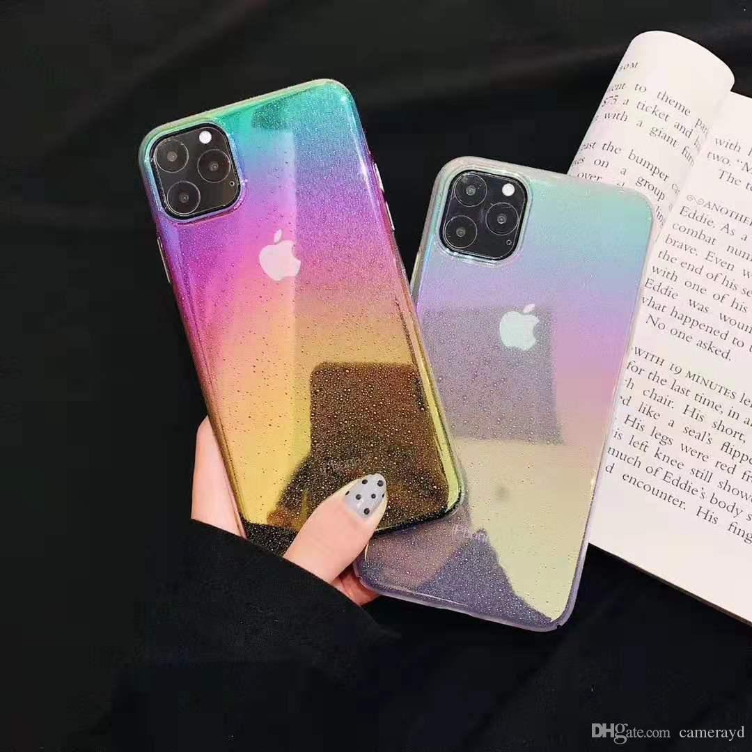 Творческие капли прилива зеркало воды градиент мобильный телефон случае для защиты iPhoneXS MAX iPhone11 Pro Max XR X 7P 8Plus 6S все включено