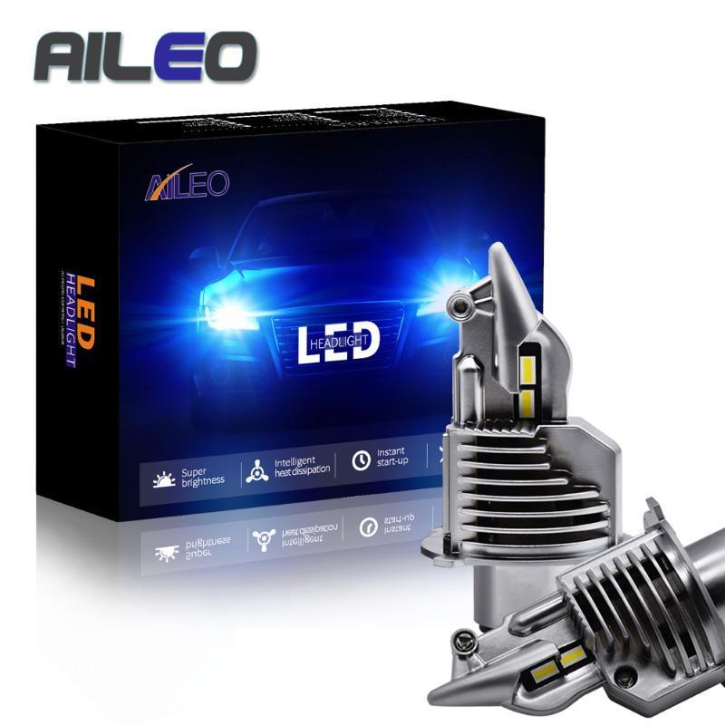 AILEO faro dell'automobile della lampadina H4 Led Lampadine auto / moto 72W 12V 24V 6000K Super Led H4 Car headlight lampadine lampada 12000lm
