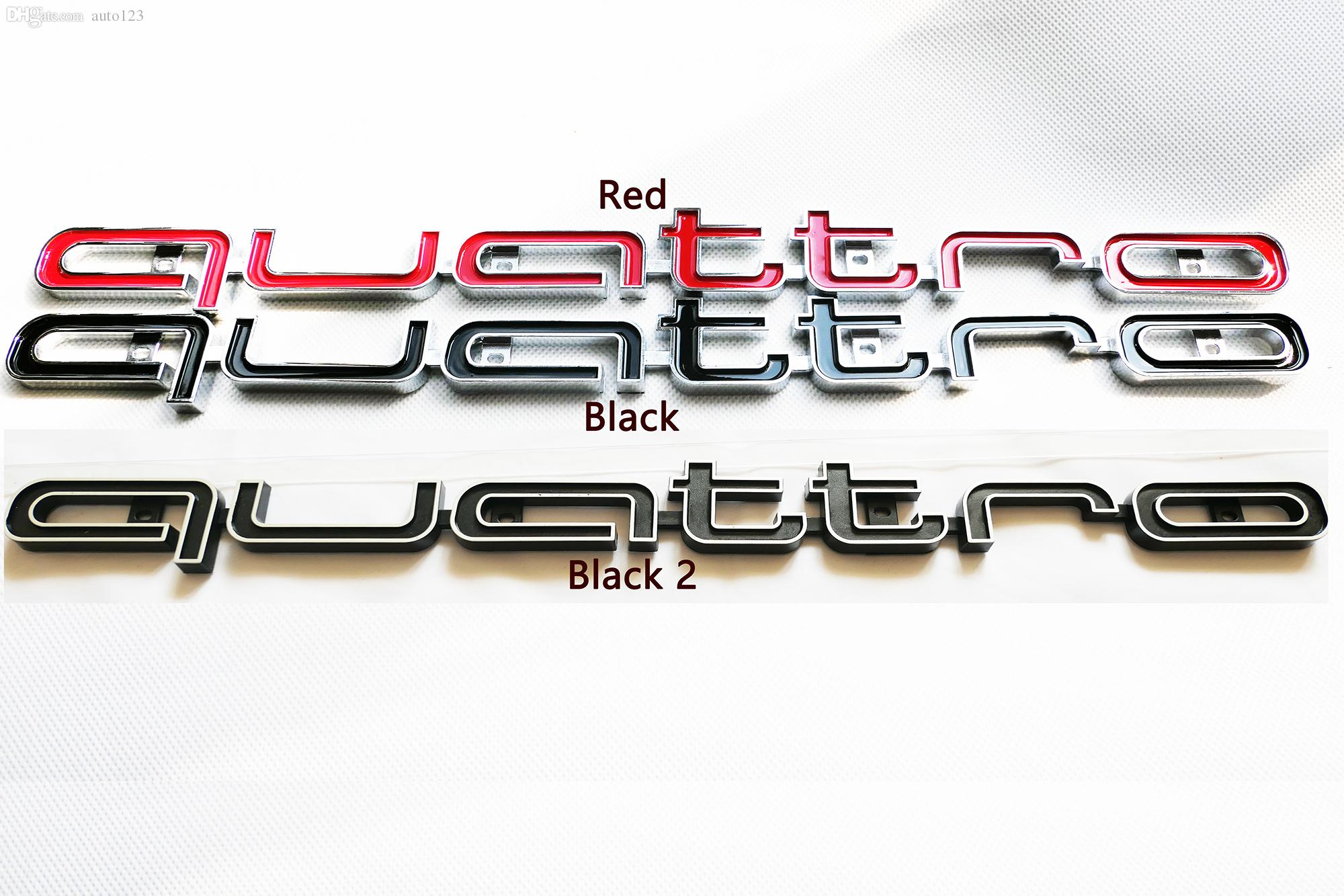 RS نمط 3D ملصقات الجبهة كواترو شعار مصبغة شارة تريم لأودي A1 A3 A4 A5 A6 A7 A8 Q3 Q5 TT زينة السيارات