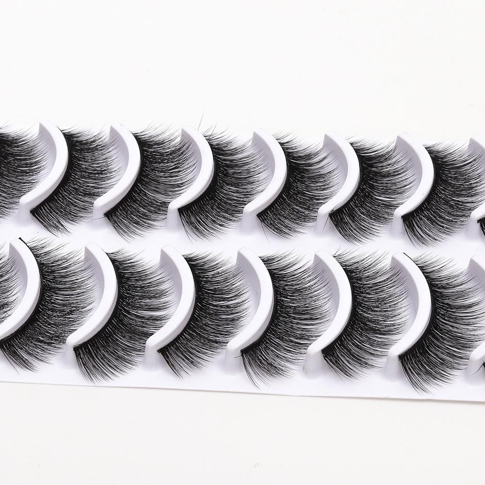 New 10 Pares 100% Real Cílios 3d Natural Cílios Postiços 3d Lashes Maquiagem Extensão Dos Cílios Macios