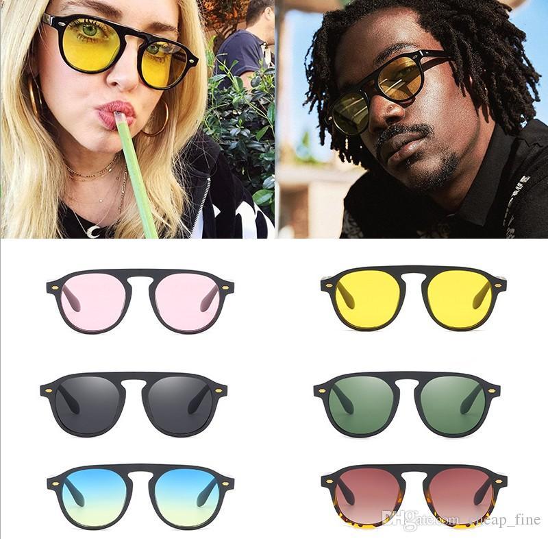 New ankunft vintage runde sonnenbrille frauen designer gradienten retro sonnenbrille für männer brillen uv400 damen sonnenbrille 92106