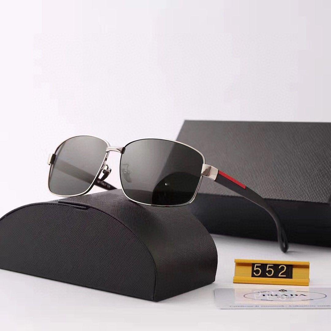 Mens Sunglasses Designer Sunglasses Man Moda Goggle Óculos UV400 P Letter 552 5 cores opcional com caixa