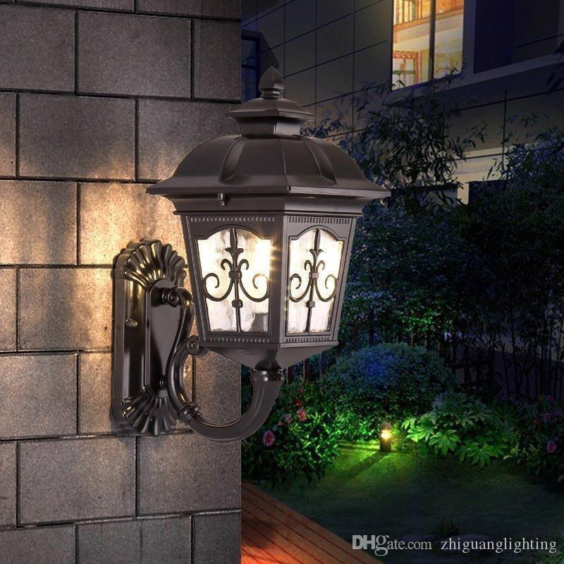 European outdoor wall lamp exterior wall villa aisle corridor balcony lamp LED door light garden waterproof garden lights Garden
