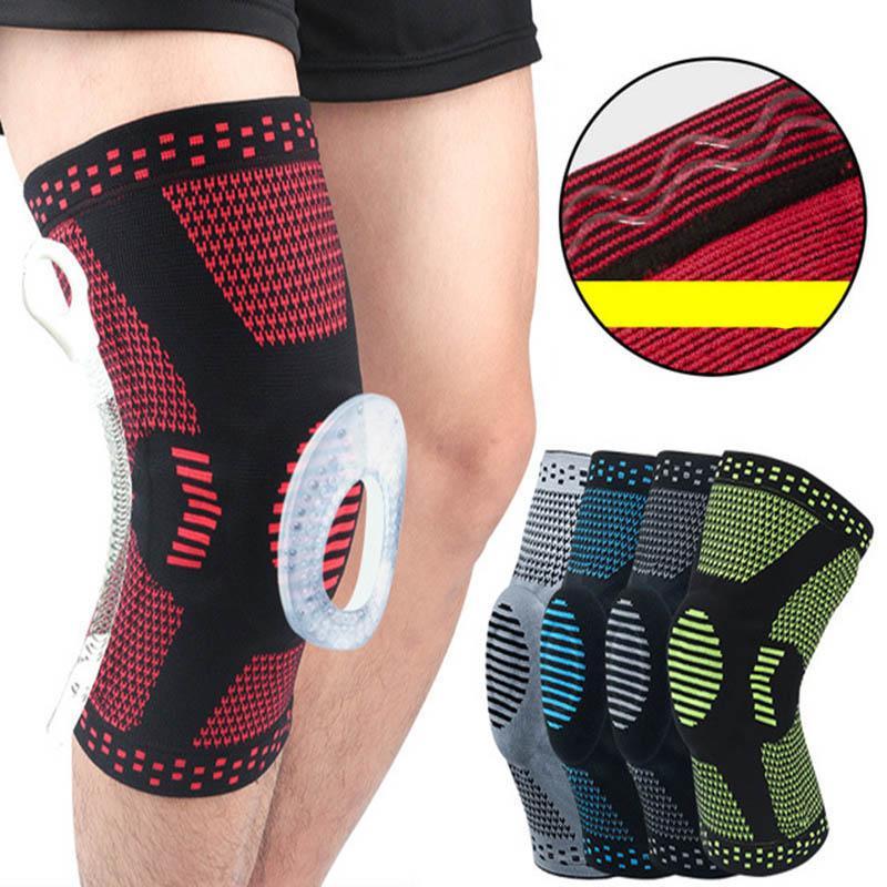 Мягкие силикагелевые наколенники для наружного баскетбола спортивные мениски чехол для ног для бега фитнес приседания наколенники JC