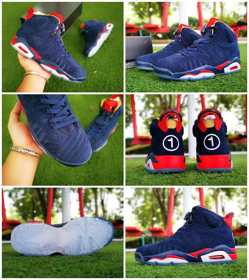 Vendita calda Jumpman VI 6 Doernbecher DB Bambini Retro di pallacanestro di sport dei pattini di massima qualità Blu Rosso ICE 6S Scarpe Sneakers uomo