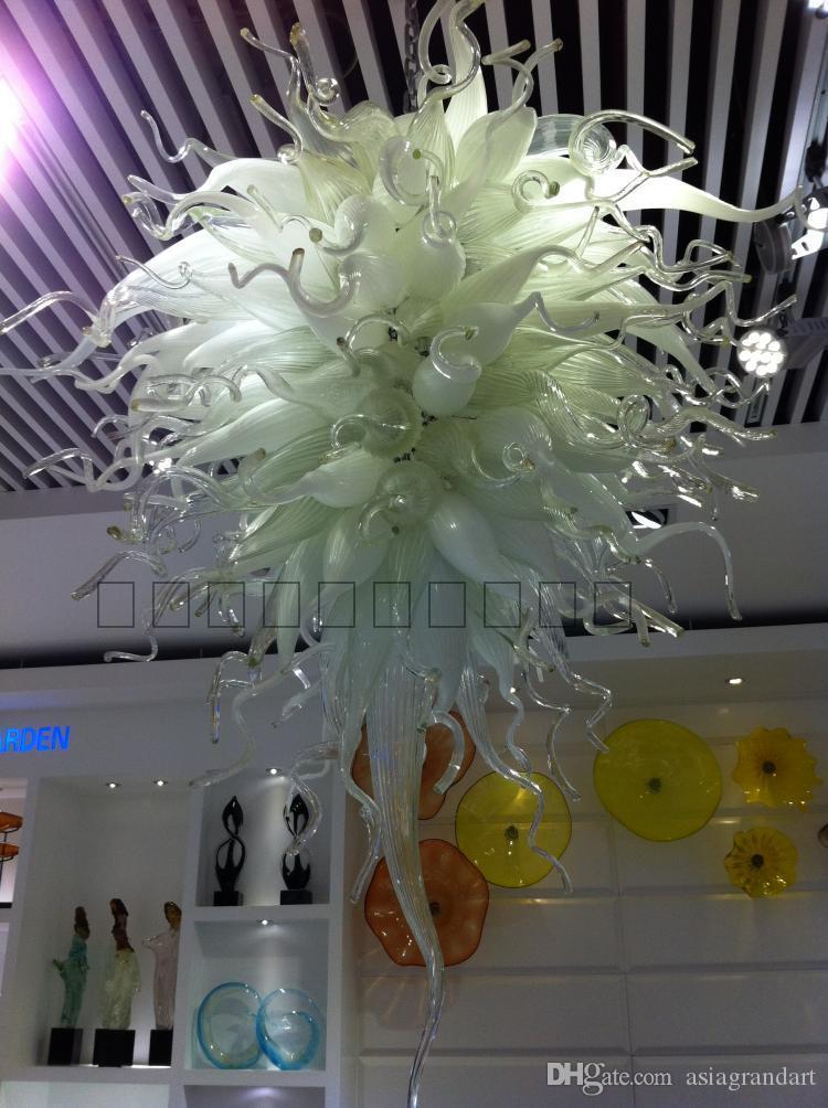 100٪ الفم في مهب CE UL البورسليكات زجاج مورانو كيلي دايل فن الزجاج الأبيض مصباح الاكريليك قلادة الخفيفة