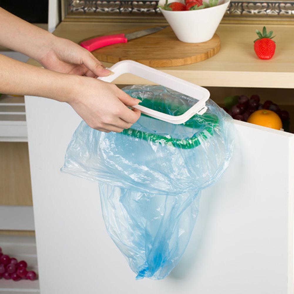 Новые поступления могут повесить кухонную дверь заднего типа шкаф мусорное ведро кронштейн мусорный мешок стеллаж для хранения мусора стеллаж для кухонных инструментов