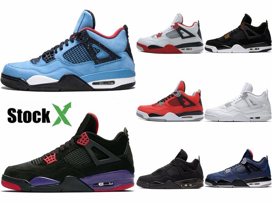 2020 nuevos zapatos de baloncesto de las zapatillas de deporte para hombre Traderjoes con la CAJA 4S Iv invicto de atletismo al aire libre calzado deportivo para caballero Us12 # 670