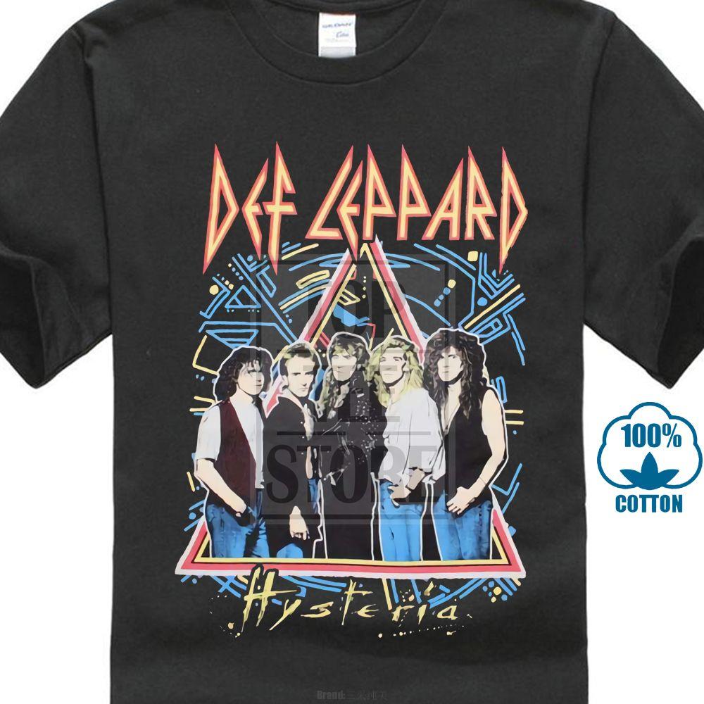 New Def Leppard Glass Black Tour Mens Vintage Classic T-Shirt