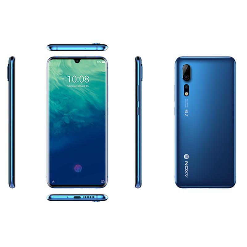 """الأصل ZTE أكسون 10 برو 5G LTE الهاتف المحمول 6GB RAM 128GB ROM أنف العجل 855 الثماني النواة الروبوت 6.47 """"الهاتف الخليوي 48MP الوجه ID بصمات الأصابع"""